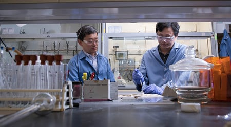 Gregory Fu and Zhaobin Wang at Caltech. Image credit: Caltech