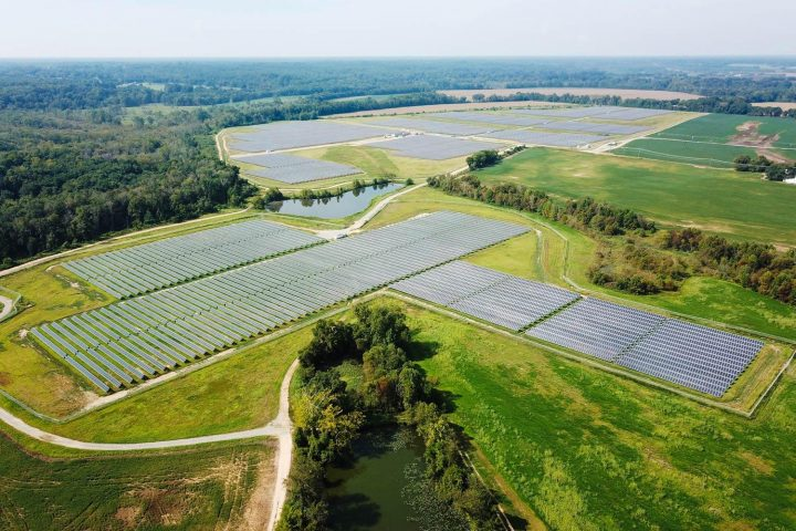 The 160-acre solar facility in King William County features approximately 65,000 solar panels, enough to power about 4,250 homes at peak output. (Photo courtesy Dominion Energy)