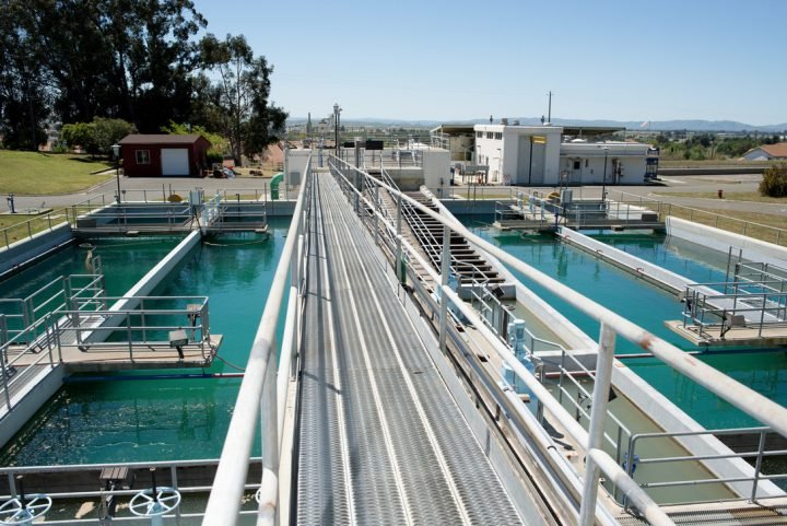 A water treatment plant.
