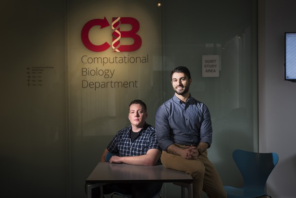 Amir Alavi, a Ph.D. student, and Matthew Ruffalo, a post-doctoral researcher, both in the Computational Biology Department, are co-lead authors on a paper explaining how neural networks and supervised machine learning techniques can efficiently characterize cells that have been studied using single cell RNA-sequencing.