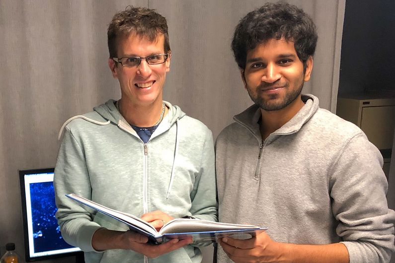 Daniel Zenklusen (left) and his doctoral student Srivathsan Adivarahan.