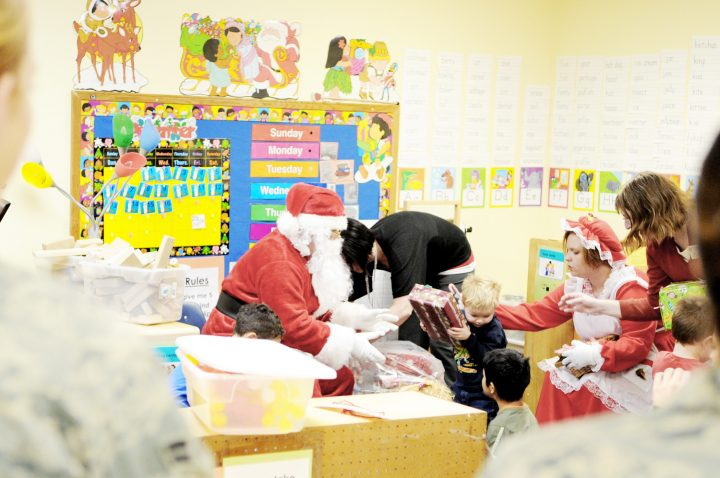 Christmas at a pre-school. Image credit: U.S. Air Force, Corey Hook