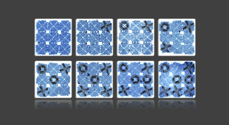 An artist's rendering of a game of tic-tac-toe played with DNA tiles. Image credit: Caltech