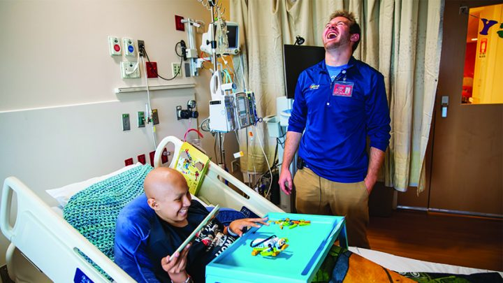 A partnership with Buildup Mobile offers Mott patients a fun, educational respite.