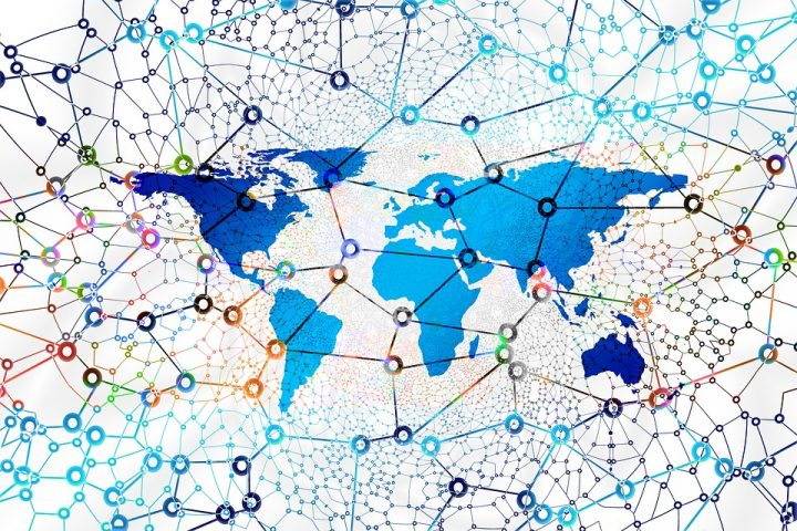 Global network - artistic concept. Image credit: geralt via Pixabay, CC0 Public Domain