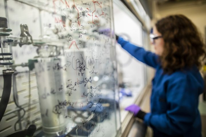"""Researchers in Daniel Mindiola's lab are pushing the boundaries of fundamental chemistry by studying extremely unstable and reactive molecules. Making these """"impossible molecules"""" requires detailed planning and a number of trial and error experiments along the way."""