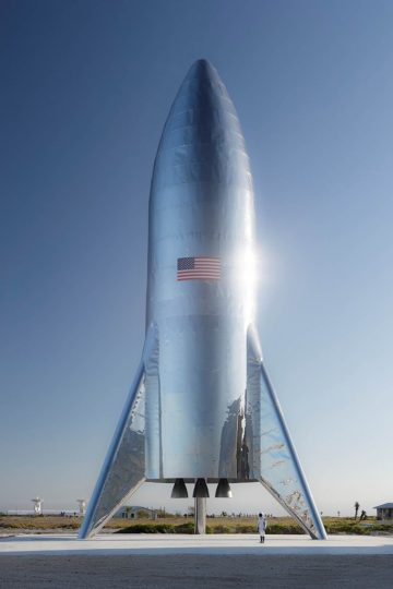 SpaceX Starship. Image credit: SpaceX