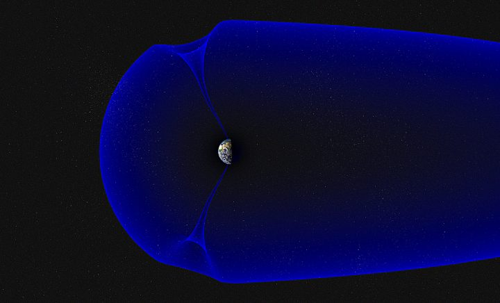 Earth's magnetosphere, showing the northern and southern polar cusps (illustration). Credits: Andøya Space Center/Trond Abrahamsen