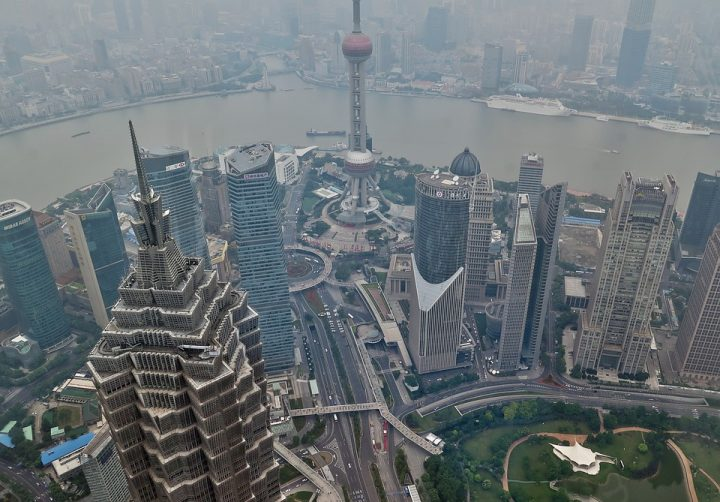 Shanghai. City view from above. Image credit: moerschy | Free image via Pixabay