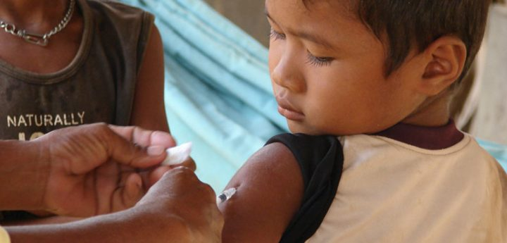 Immunization is one of the most cost-effective ways to improve global health security. This boy is now protected against measles. Image credit: CDC Global via Flickr, CC BY 2.0