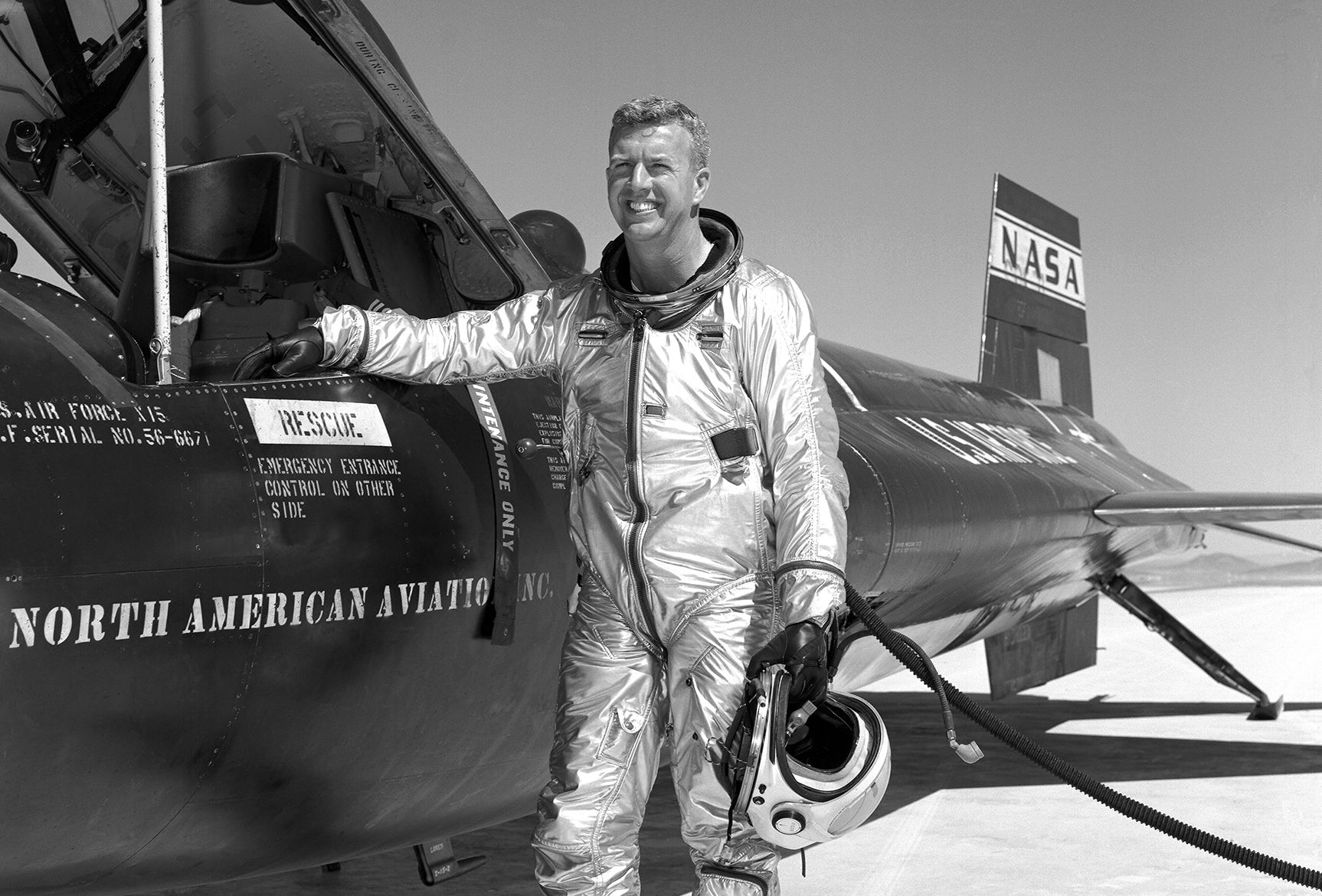 "Joseph A. ""Joe"" Walker piloted such aircraft as the X-15. He died during a mission piloting the F-104. Credits: NASA"