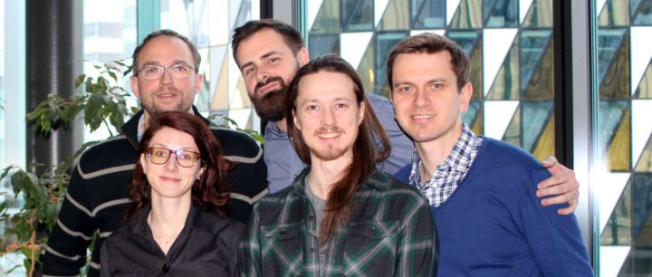 Professor Gunnar Shulte together with his research group at the Department of Physiology and Pharmacology.