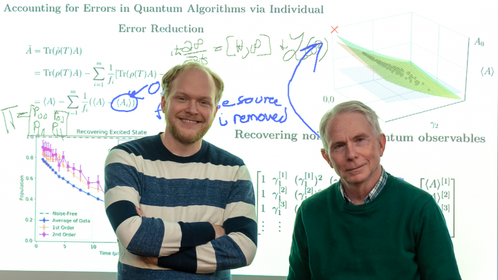 Matt Otten (left) and Stephen Gray (right) have developed a technique that effectively reduces quantum noise without the need for additional quantum hardware. (Image by Argonne National Laboratory.)