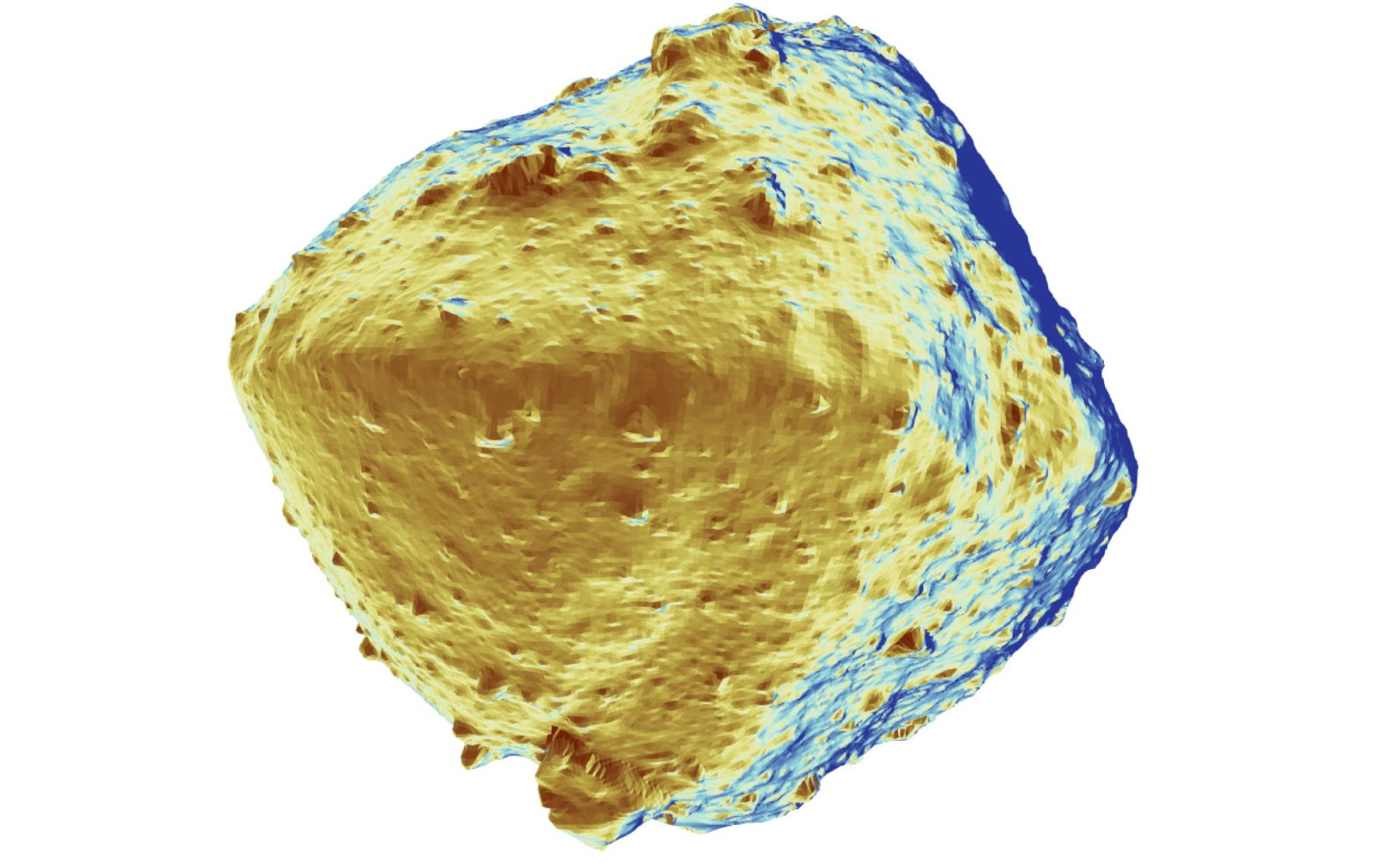 It is unclear how Ryugu's parent body became so dehydrated. Image credit: 2019 Seiji Sugita et al., Science