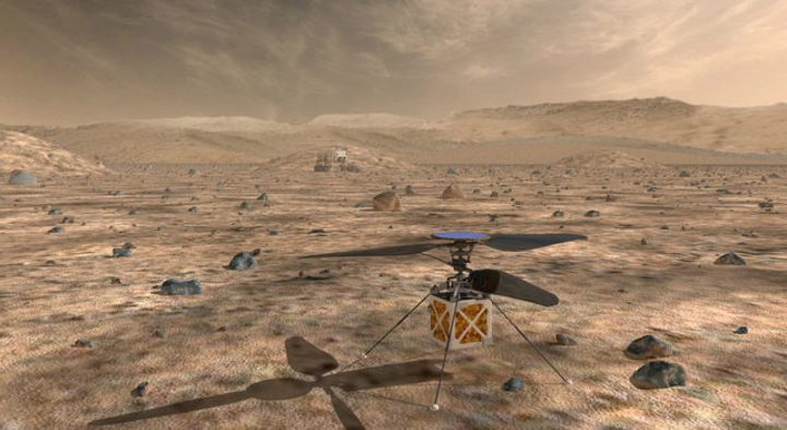 NASA's Mars Helicopter, a small autonomous rotorcraft, will demonstrate the viability and potential of heavier-than-air vehicles on the Red Planet. Credits: NASA/JPL-Caltech