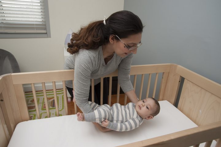 Always place your baby on his or her back to sleep, for naps and at night, to reduce the risk of SIDS. Learn more about creating a safe sleep environment for baby at safetosleep.nichd.nih.gov. More than 80% of suffocations involving infants younger than 12 months occurred in a crib or bed, according to a new UVA study. Image credit: NICHD via Flickr, Public Domain