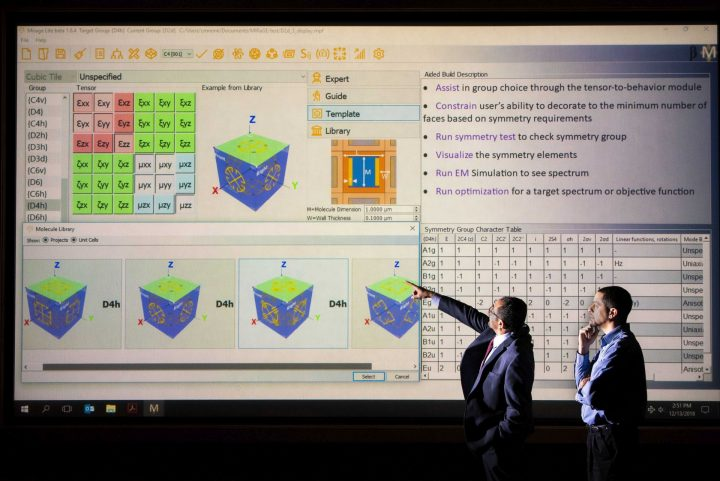 Inverse-design software Mirage developed at Sandia National Laboratories provides users a guide to making materials with advanced optical properties. (Photo by Randy Montoya)