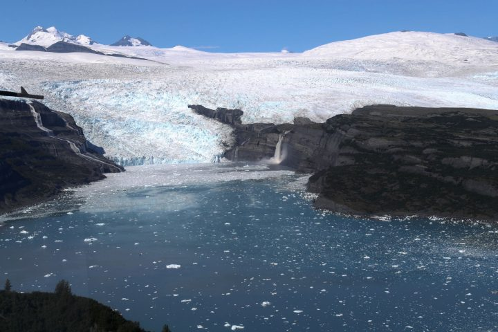 In Alaska, five percent of the land is covered by glaciers that are contributing to sea level rise in ways disproportionately large to their size. A small airborne campaign has been monitoring these changes since 2009. Credit: NASA