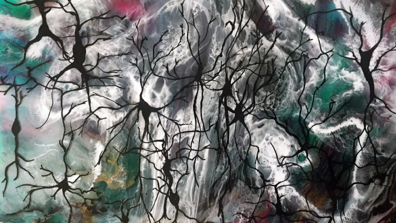 Artistic rendering of cortical neurons (Illustration by Angie M. Michaiel, University of Oregon)
