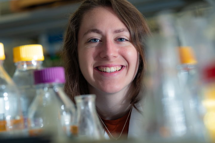 Kathryn Brink is a graduate student in Rice University's Synthetic, Systems and Physical Biology program. Illustration by Jeff Fitlow/Rice University