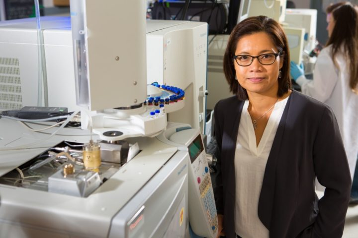 Diana Aga, Henry M. Woodburn Professor of Chemistry at the University at Buffalo. Her research furthers our understanding of how antibiotic resistance may spread. Credit: Douglas Levere / University at Buffalo