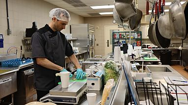 Dietitians at the Clinical Center of the National Institutes of Health designed recipes to test the effects of ultra-processed and unprocessed diets on study participants. Image credit: Jennifer Rymaruk, NIDDK