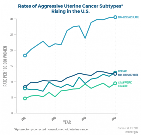 Rates of aggressive uterine cancer subtypes rising in the U.S.