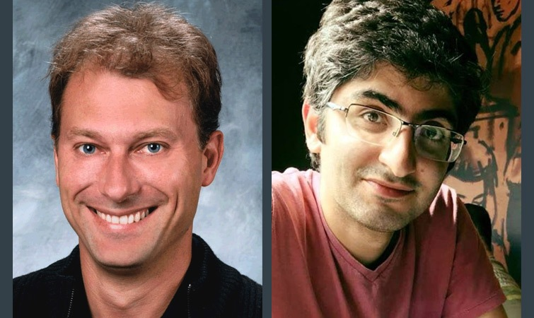 Frederic Gibou (left), a faculty member in the Department of Mechanical Engineering and Computer Science at the University of California, Santa Barbara (UCSB). Pouria Mistani (right) a member of the Gibou Group at UCSB.