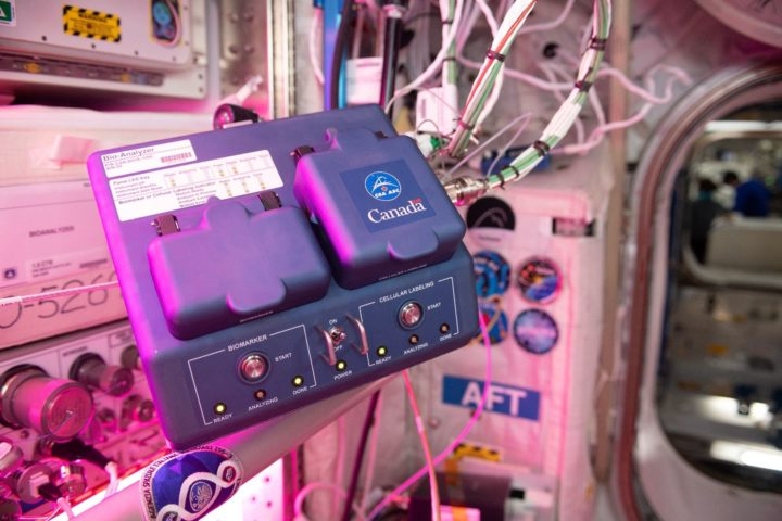 The Bio-Analyzer during the first commissioning activity aboard the space station. Credits: NASA