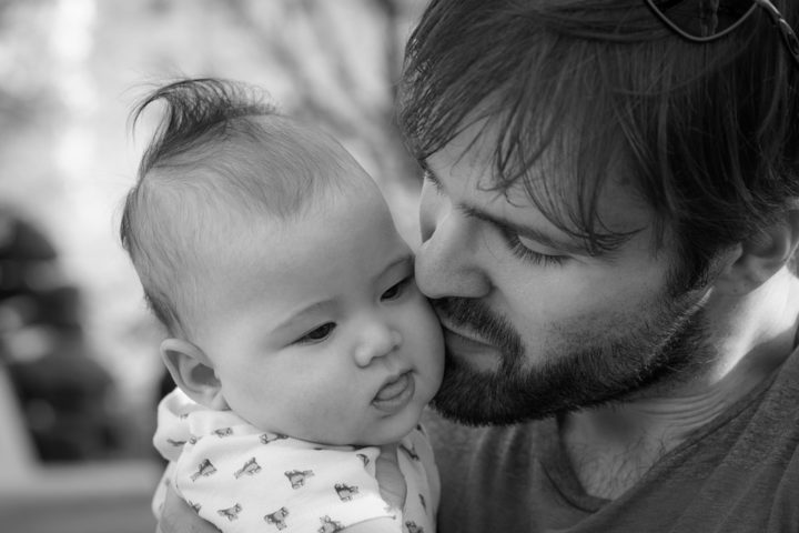 Father and a baby. Image credit: tookapic via Pixabay (Pixabay licence)