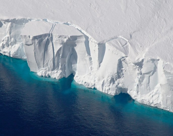 The Getz Ice Shelf helps keep the West Antarctic Ice Sheet stable. Image credit: NASA/Jeremy Harbeck