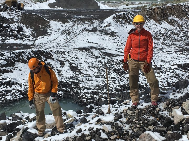 A team of graduate students in the MU Department of Geological Sciences field tested the lava suits created by Abby Romine, a graduate student in Textile and Apparel Management, during a recent research trip to Colorado.