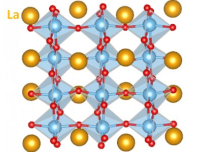 An animated look. The molecular dynamic simulations of a layered perovskite oxide material show how the lattice distorts under ionizing radiation. | PNNL