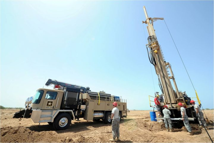 Water well drilling equipment. Image credit: U.S. Air Force