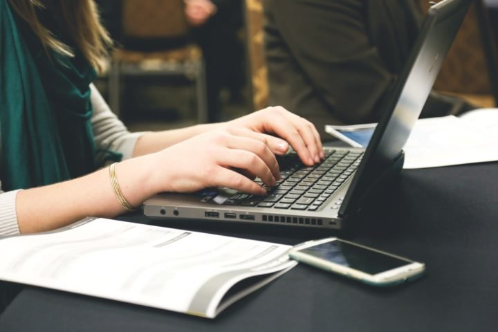 Working with data. Image credit: Startup Stock Photos via Pexels (Pexels licence)