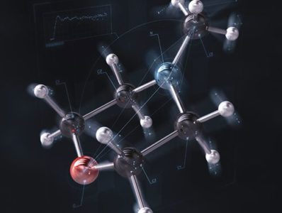 Researchers imaged subtle motions of a molecule known as N-methyl morpholine when excited by UV light. Credit: Brown University / SLAC