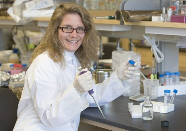 Laura Knoll is a professor of medical microbiology in the UW School of Medicine and Public Health. Photo by Wandy Beatty/Washington University