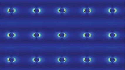 Silver nanopillars from laser simulation. Image credit: Northwestern University