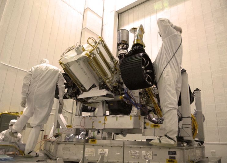 Mars 2020 rover unwrapped. Image credit: NASA