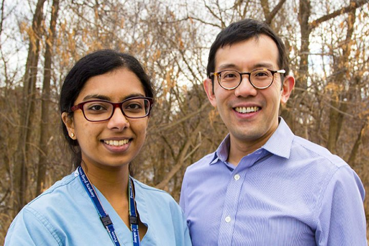 The study was undertaken by Dr. Andrew Lim, an associate professor in neurology in U of T's Faculty of Medicine, and Kirusanthy Kaneshwaran, a third-year U of T medical student (photo by Gabrielle Giroday, University of Toronto)