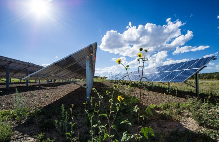 Increased solar power may be a solution for grid reliability under climate change. Image credit: National Renewable Energy Laboratory via NSF