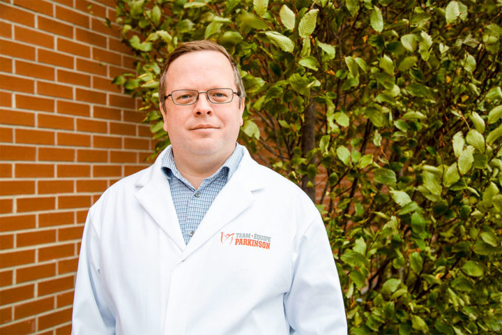 """""""If you're developing therapies for Parkinson's disease, and you're targeting this alpha-synuclein aggregate pathology, it's likely that one therapy may not fit all,"""" says U of T Assistant Professor Joel Watts (photo by Gabrielle Giroday/University of Toronto)"""
