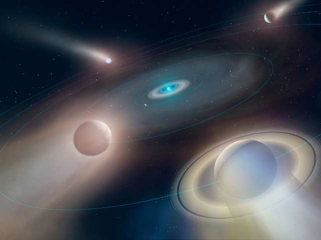 artist impression of future of the solar system