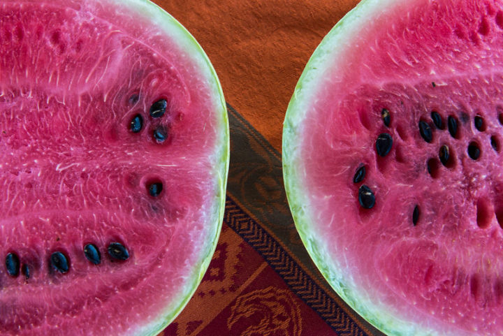Sliced watermelon. Photo by Lynn Ketchum, Oregon State University.