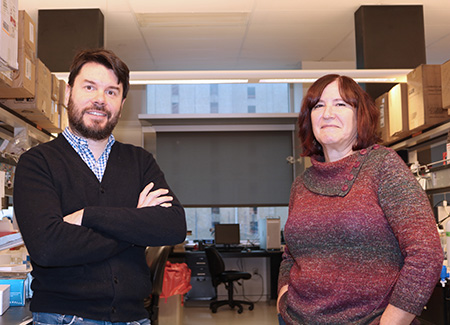 Juan Pablo Zanin, Rutgers-Newark research associate, and Wilma Friedman, professor of cellular neurobiology, are studying a protein that may be linked to autism and neurological diseases like Alzheimer's.