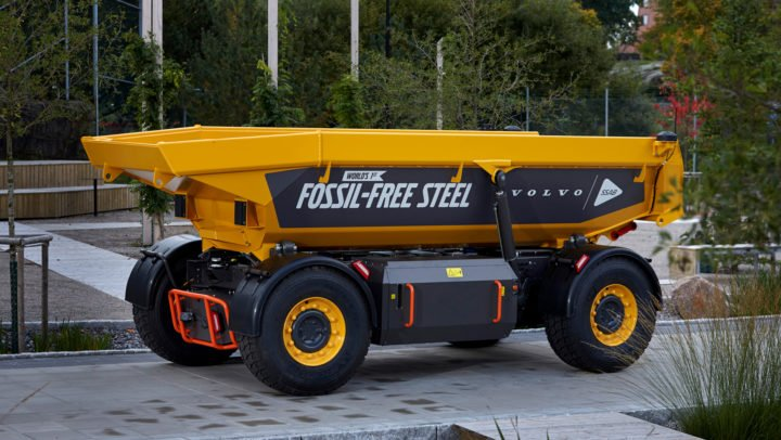 This load carrier for the mining industry was made using green clean steel, or fossil-free steel, and is the first vehicle like that in the world. Image credit: Volvo
